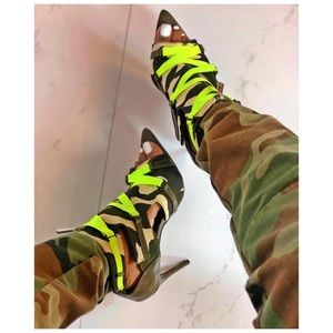 9418bb62b5a Shoes - 🔥🔥🔥 Neon camouflage booties